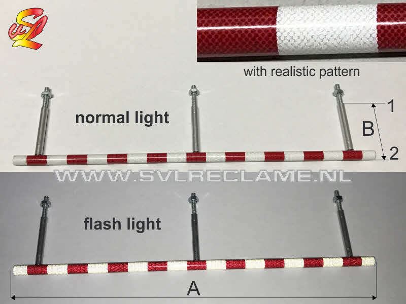 reflective pole red and white for tamiya carson trailer www_svlreclame_nl