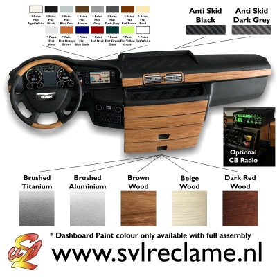 tamiya man xlx realistic dashboard with lighting wood or brushed www_svlreclame_nl