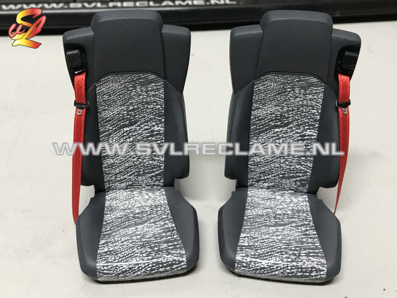 tamiya mercedes actros realistic seats stoelen interior interieur 1 14 grey with white lines www_svlreclame_nl